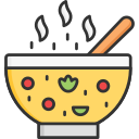 bowl, food, hot soup, restaurant, soup icon