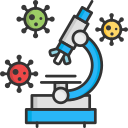 coronavirus, laboratory, medicine, microscope, research icon