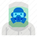 antivirus, clothing, mask, protective, suite icon