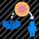 bat, carrier, coronavirus, flu, virus icon