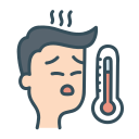 fever, man, patient, sick icon