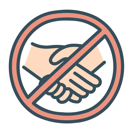 Hand Handshake No Shake Touch Icon Free Download Including transparent png clip art, cartoon, icon, logo, silhouette, watercolors, outlines, etc. hand handshake no shake touch icon
