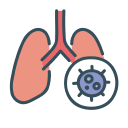 corona, covid-19, disease, health, lung, virus icon