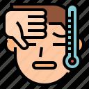 coronavirus, covid, fever, high, symptom, temperature