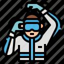 coronavirus, covid, goggle, medical, protect, wearing