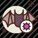 bat, coronavirus, covid19, health, quarantine, sars, viruses icon