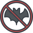 animal, avoid, bat, dont, eating, no icon