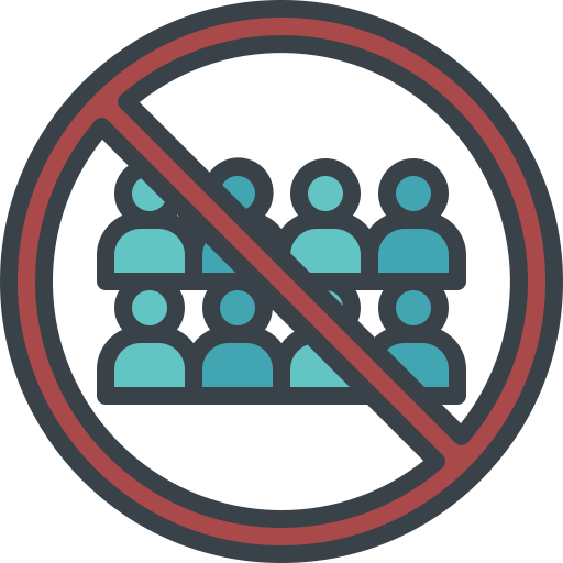 avoid, contact, crowd, no, people icon