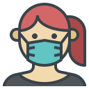 doctor, flu, mask, protection, wearing icon