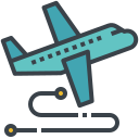 flight, route, tourism, transmit, travel icon
