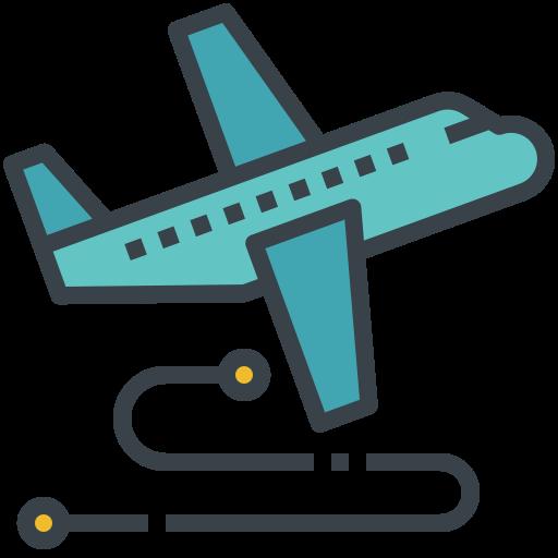 flight, route, tourism, transmit, travel icon