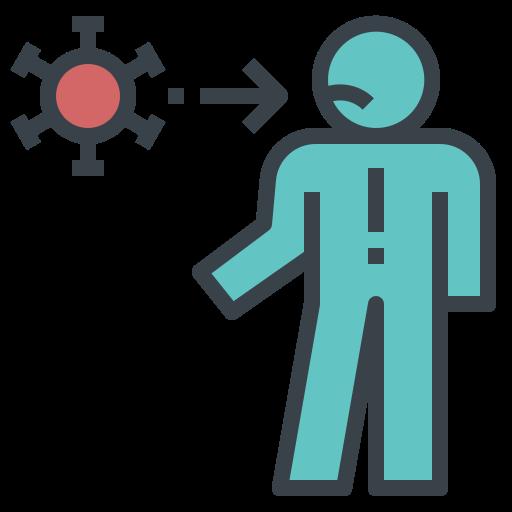 coronavirus, host, human, intect, viral icon