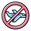 avoid, flights, airplane icon