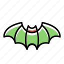 horror, bat, halloween icon