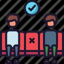 corona virus, distance, covid-19, social distance icon