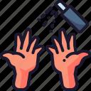 coronavirus, disinfectant, hand sanitizer, hand sanitizing, sanitizer icon