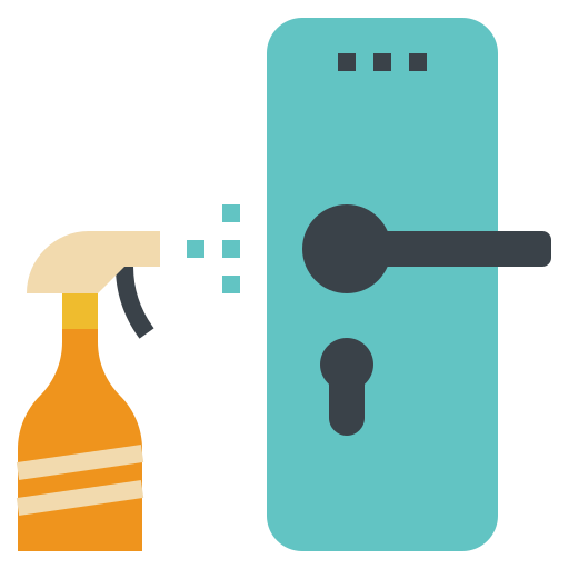 Cleaning, door, hygiene, knob, object icon - Free download