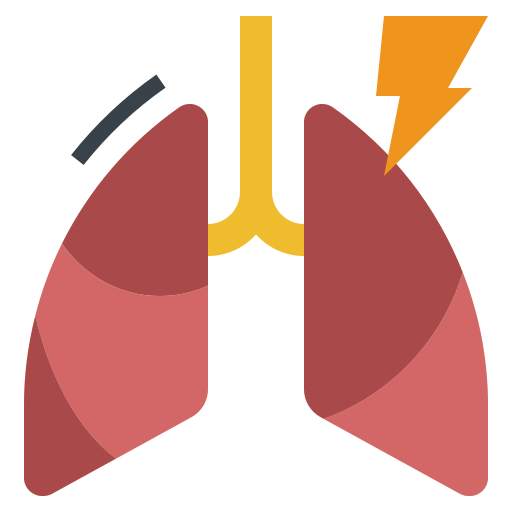 bronchitis, inflamation, influenza, lung, pneumonia icon