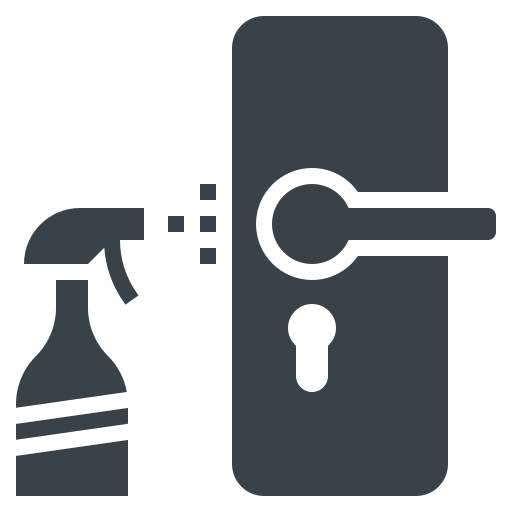 cleaning, door, hygiene, knob, object icon