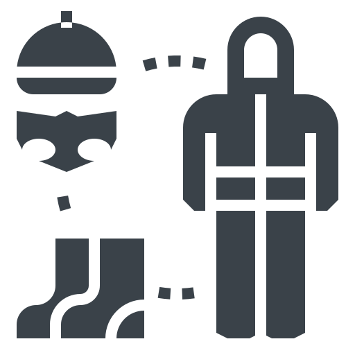 antivirus, clothing, corona, coronavirus, covid-19, dress, mask, protective icon