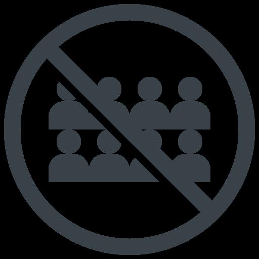 avoid, contact, corona, coronavirus, covid-19, crowd, no, people icon