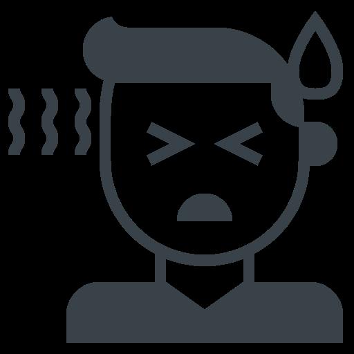 corona, coronavirus, covid-19, fever, high, sick, sweat, temperature icon