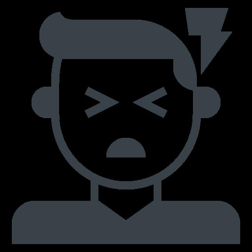 Head, headache, migraine, pain, severe, shock icon - Free download