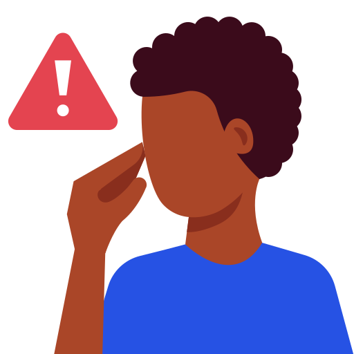avoid, coronavirus, eyes, face, mouth, touch, warning icon