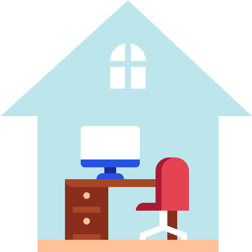 Home, office, work, work from home, house icon - Free download