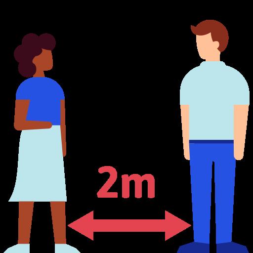 distance, keep, social icon
