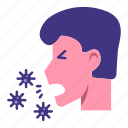 cough, coughing, infection, virus icon