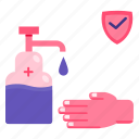 antiseptic, fingers, hand, sanitizer icon