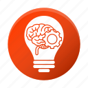 brain, brainstorm, business, corporate, gear, idea icon