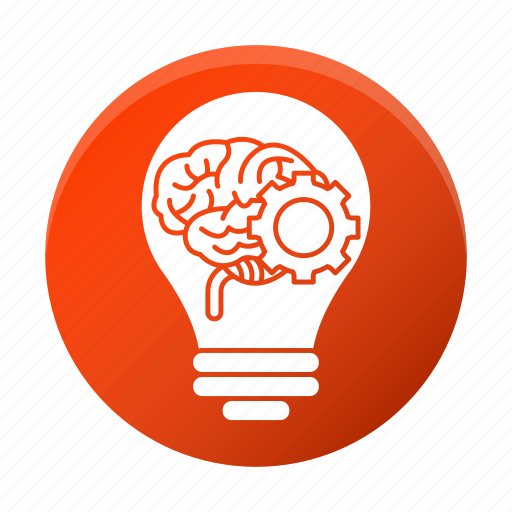 brain, brainstorm, business, corporate, gear, idea icon