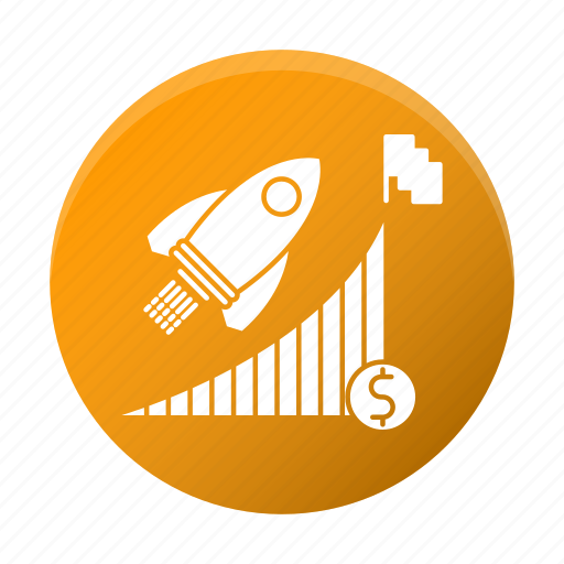 advancement, business, career, corporate, goal, graph icon