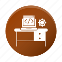 business, code, corporate, development, device, gear, workplace icon
