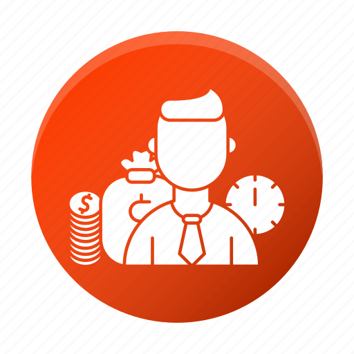 business, corporate, employee, managment, wages icon