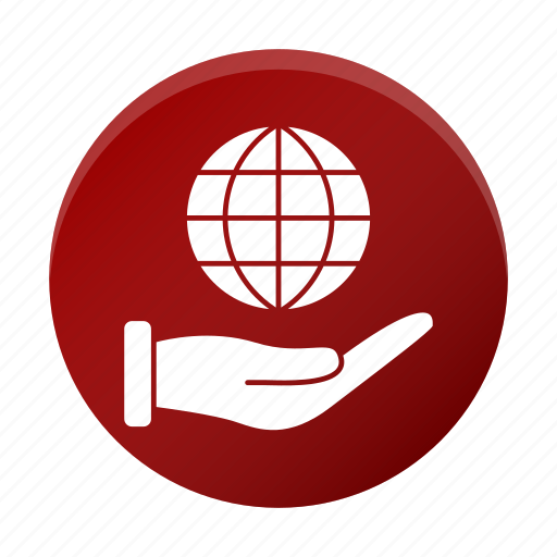 business, corporate, global, globe, hand icon