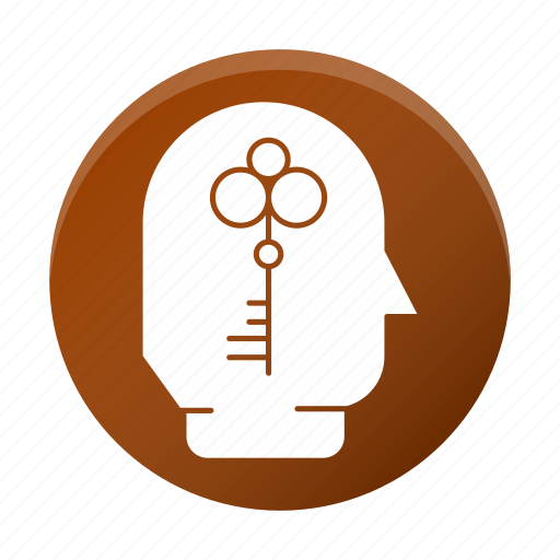 business, corporate, head, key, open mind, person icon