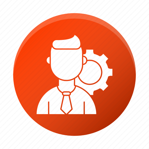 avatar, business, corporate, gear, management, person icon