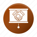 business, corporate, deal, hands, partneship icon