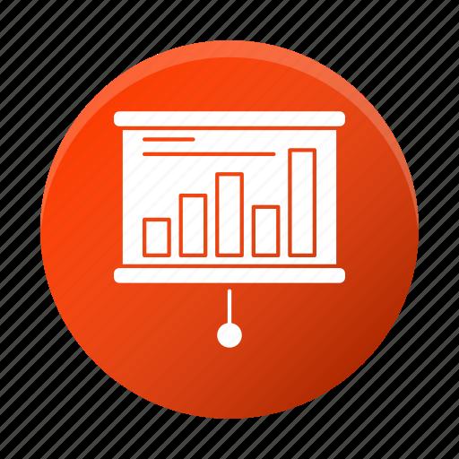business, chart, corporate, diagram, graph, seminar icon