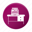 device, diagram, pc, table, workplace icon