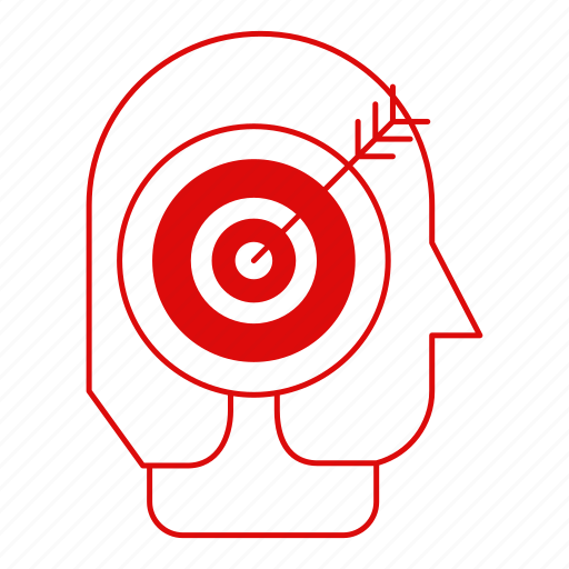 corporate business, headhunter, job, search, target icon