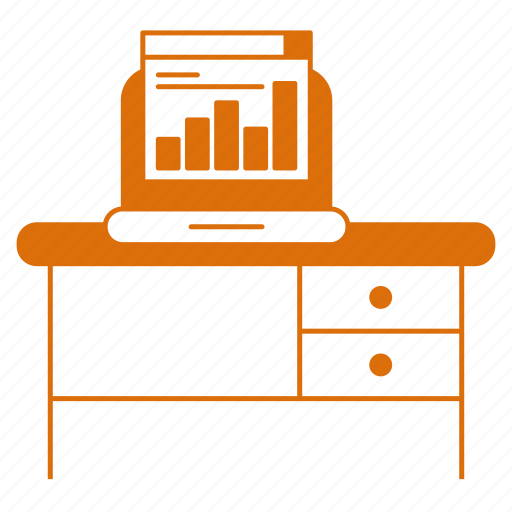 building, computer, corporate business, desk, workplace icon