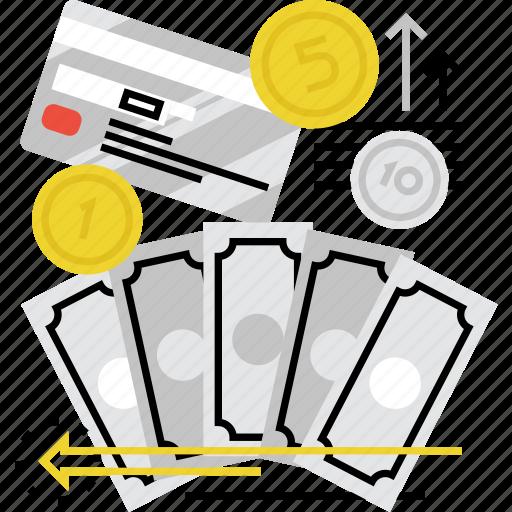 benefits, bonus, fee, profit, royalties, salary, wages icon