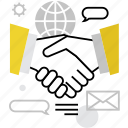agreement, business, deal, handshake, negotiation, partners, partnership icon