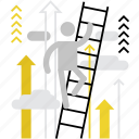 ability, career, growth, human, ladder, opportunity, possibility icon