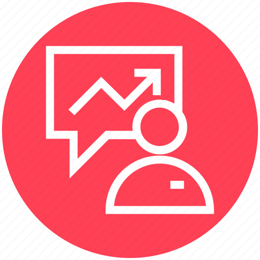 business, chat, graph, human, management, transaction, user icon