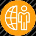 client, communication, earth, globe, management, user, world